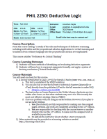 PHIL 2250, Deductive Logic Fall 2016